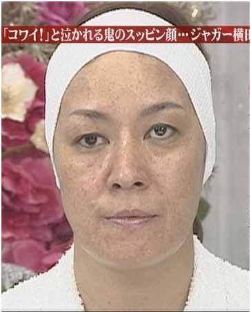 芸能人すっぴん画像   ジャガー横田